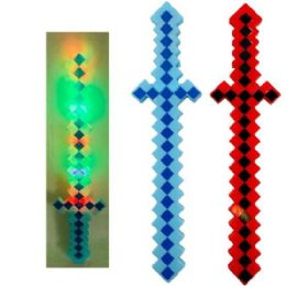 """24 Units of 24.5"""" Light Up Pixelated Sword - Light Up Toys"""