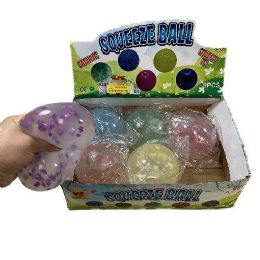 """24 Units of 4"""" Squish Jelly Ball with Sprinkles - Balls"""