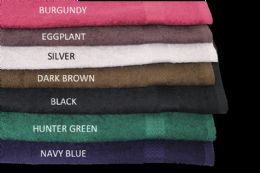 24 Units of Prism Bleach Safe Salon Towels Vat Dyed in Size 16x29 In Eggplant - Bath Towels