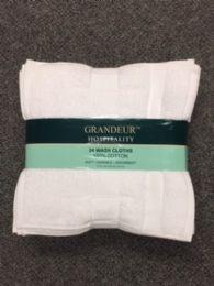 72 Units of United Grandeur Luxury Super Absorbent Wash Cloth Size 13x13 - Bath Towels