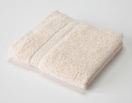 24 Units of Ecru Colored Durable Wash Cloth - Bath Towels