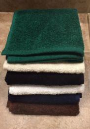 12 Units of Plush Loop Terry Millenium Wash Cloth Long Lasting And Durable In Hunter Green - Bath Towels