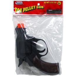 "144 Units of 5"" TOY PELLET REVOLVER GUN IN PEGABLE PP BAG - Toy Weapons"