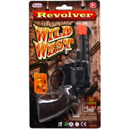 """96 Units of 5.5"""" Wild West Cap Gun (revolver) In Blister Card - Toy Weapons"""