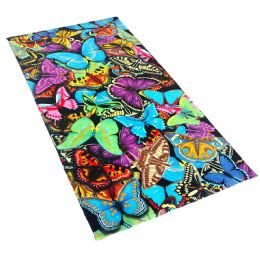 12 Units of Cotton Printed Fiber Reactive Beach Towel 30 x 60 Butterflies - Beach Towels