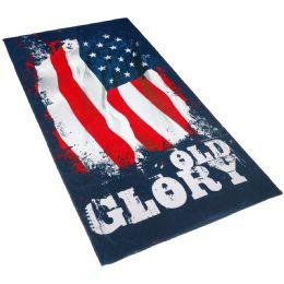 12 Units of Cotton Printed Fiber Reactive Beach Towel 30 x 60 Old Glory - Beach Towels