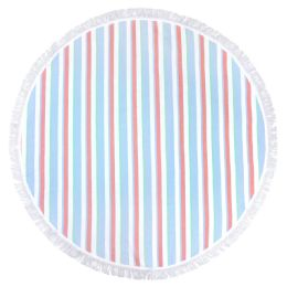 12 Units of Round Beach Towels In Torquoise 100 Percent Cotton 60x60 Round - Beach Towels