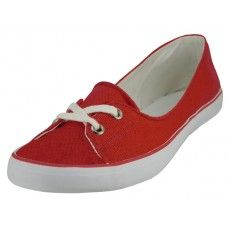 24 Units of Lace Up Canvas Shoe ( *Red Color ) - Women's Flats
