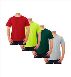 72 Units of JERZEES - IRREGULAR POCKETED CREW-NECK T-SHIRT 100% COTTON - 499 - Mens T-Shirts