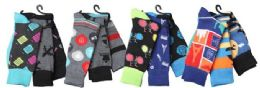 12 Units of Mens Elegant Patterned Dress Socks - Mens Dress Sock