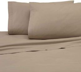 12 Units of Martex King Size Colored Flat Sheet Heavy Weight And Durable In Khaki - Sheet Sets