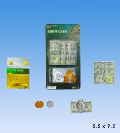 72 Units of Mini Play Money Set In Blister Card - Educational Toys