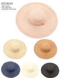 24 Units of Women Fashion Large Brim Sun Hat With Bow - Sun Hats