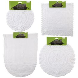 48 Units of Lace Doily/runner 1/2/3pk Asst White Round/rect/oval Shapes Home Tcd - Accessories