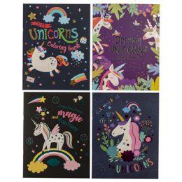 48 Units of Coloring Book Foil Unicorn Pdq - Coloring & Activity Books