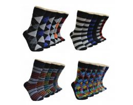 288 Units of Men's Assorted Styles Crew Socks - Mens Crew Socks