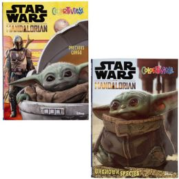 24 Units of Coloring Book The Mandalorian 24pc Pdq Display 2 Assorted - Coloring & Activity Books