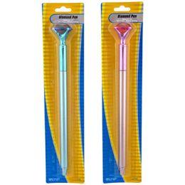 36 Units of Pen W/diamond Topper Ast - Pens & Pencils