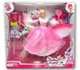 12 Units of Bettina Doll and Unicorn Play Set - Dolls