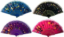 24 Units of Small Butterfly Hand Fan - Novelty Toys