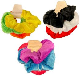 24 Units of Solid Color Scrunchies - Hair Accessories