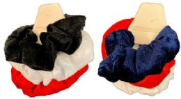 24 Units of Solid Color Scrunchies - Hair Scrunchies