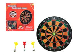 """12 Units of MAGNETIC BOARD GAME W/ 6 DARTS 16"""" - Toy Sets"""