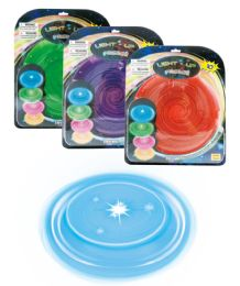 """48 Units of LIGHT UP FLYING DISC (BATTERY INCL.) 10"""" - Light Up Toys"""