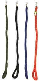 24 Units of Heavy Duty Braided Dog Leash 42 Inch - Pet Collars and Leashes