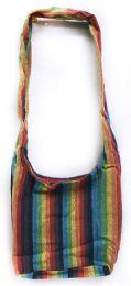 5 Units of Nepal Hobo Bags Cotton Rainbow Color Large Purse - Handbags