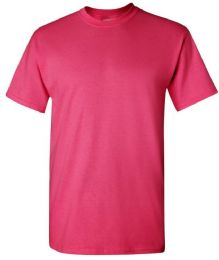 24 Units of Men's Gildan First Quality Cotton T Shirts Heliconia Large - Mens T-Shirts