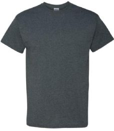 24 Units of Men's Gildan First Quality Cotton Dark Healther Large T Shirts - Mens T-Shirts