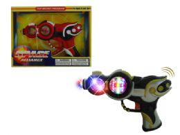 "48 Units of B/o Vibrate Gun W/light & Sound (batt.incl.) 8.5"" - Light Up Toys"