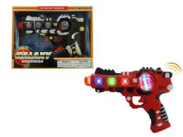 "48 Units of VIBRATE GUN W/LIGHT & SOUND (BATT.INCL.) 8.5"" - Light Up Toys"