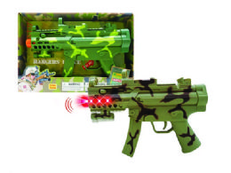 "36 Units of B/O COMBAT VIBRATE GUN W/LIGHT & SOUND (BATT.INCL.) 11.5"" - Light Up Toys"