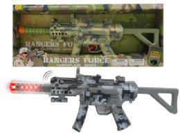 "18 Units of B/O COMBAT VIBRATE GUN W/LIGHT & SOUND (BATT.INCL.) 21.5"" - Light Up Toys"