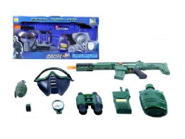 """16 Units of VIBRATE SOLDIER & POLICE PLAY SET (2 ASSTD.) 22.5"""" - Toy Sets"""
