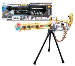 "12 Units of B/O GATLING GUN W/3D LIGHT & SOUND 23"" - Toy Sets"
