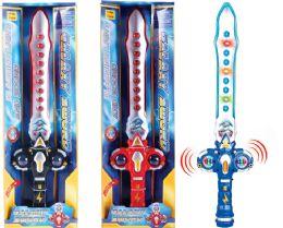 "24 Units of B/O GLOWING SWORD W/LIGHT & SOUND (BATT.INCL.) 23"" - Light Up Toys"