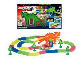 10 Units of B/o Glow Dino Track Racking Set W/led Light - Light Up Toys