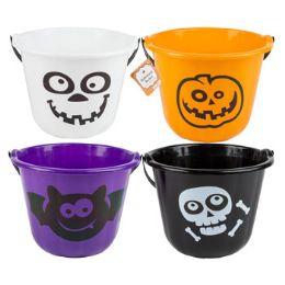 36 Units of Bucket Pumpkin W/handle - Halloween & Thanksgiving