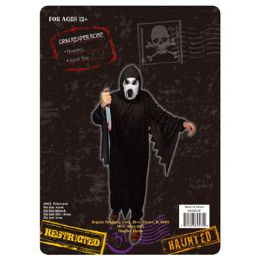 12 Units of Costume Grim Reaper Hooded - Halloween & Thanksgiving