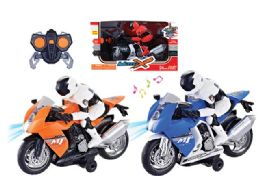 """12 Units of RC MOTORCYCLE W/LIGHT & SOUND 11"""" - Light Up Toys"""