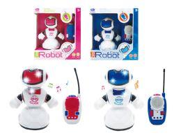"24 Units of R/C ROBOT W/LIGHT & SOUND 7.5"" - Light Up Toys"