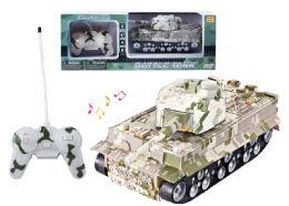 "24 Units of RC TANK W/LIGHT & SOUND 11"" - Light Up Toys"