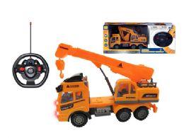 "16 Units of R/C CONSTRUCTION TRUCK W/LIGHT (2 ASSTD.) 10.5"" - Light Up Toys"