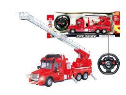 "12 Units of R/c Fire Rescue Truck W/light (2 Asstd.) 14"" - Light Up Toys"