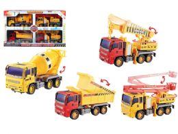 12 Units of FRICTION CONSTRUCTION VEHICLE (4 PCS SET) - Cars, Planes, Trains & Bikes