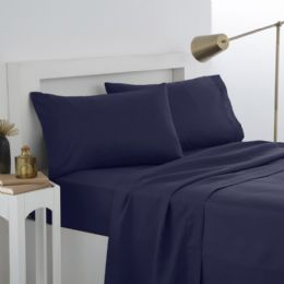 12 Units of Martex Twin Fitted Sheet In Navy - Sheet Sets