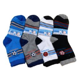 48 Units of Boy's Quarter Socks 6-8 [Sports] - Boys Ankle Sock